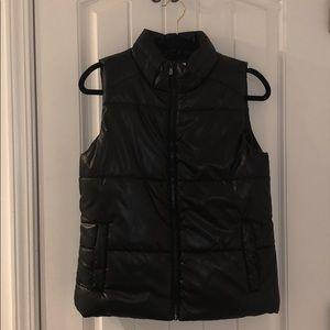 Justice Black Puffer Vest